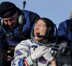 La astronauta Christina Koch regresa a la Tierra luego de una misión récord